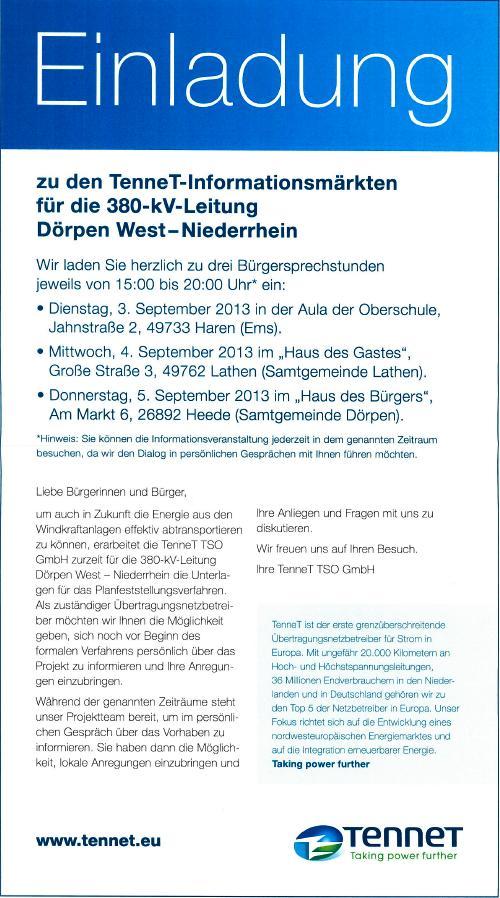 archiv 2013, Einladung