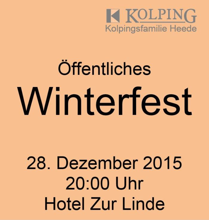 Kolping Winterfest 2015